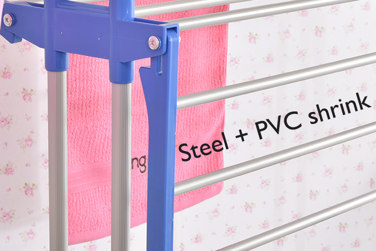 Steel-with-PVC-shrink-clothes-drying-rack