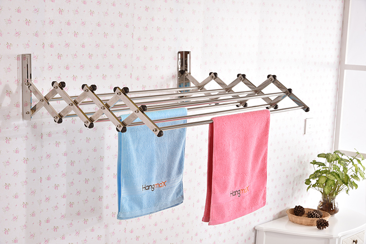 wall mounted clothes drying rack manufacturer hangmax. Black Bedroom Furniture Sets. Home Design Ideas